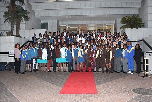 SADAC learners at the National Science Olympiad awards ceremony.