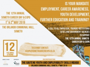 The 12th Annual Soweto Career Day Expo @ Orlando Communal hall soweto | Johannnesburg | Gauteng | South Africa
