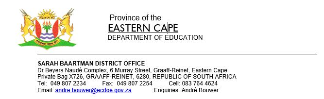Graaff-Reinet Career Expos @ 10 Venues (refer to our invitation) | Graaff-Reinet | Eastern Cape | South Africa